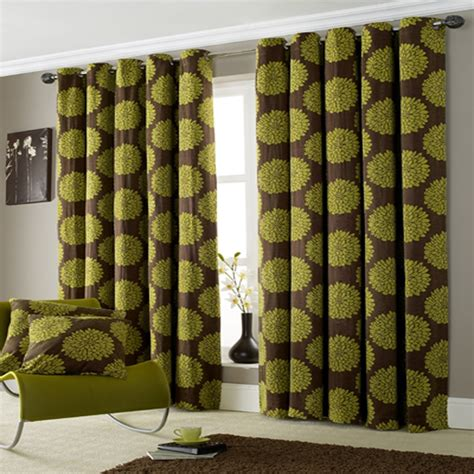 Brown And Green Curtains Designs Luxurious And Soft Lime Green Ring Top Curtains All Curtains From Pcj Home Supplies Uk