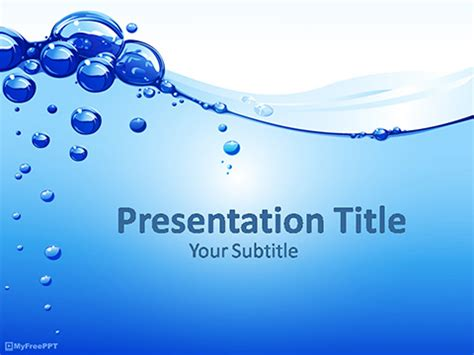 Free Water Bubble Powerpoint Templates Myfreeppt Com Water Powerpoint Template