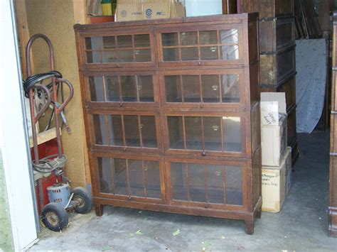 4 section lawyer bookcase for sale antique barrister