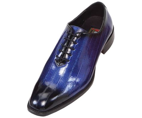 bolano mens faux eel print oxford dress shoe in