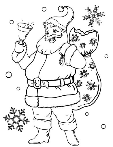 easy santa coloring pages free santa coloring pages pdf christmas fun zone
