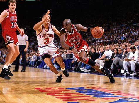 New Of Mba Playoffs by Michael Driving On Starks During The 1993 Nba