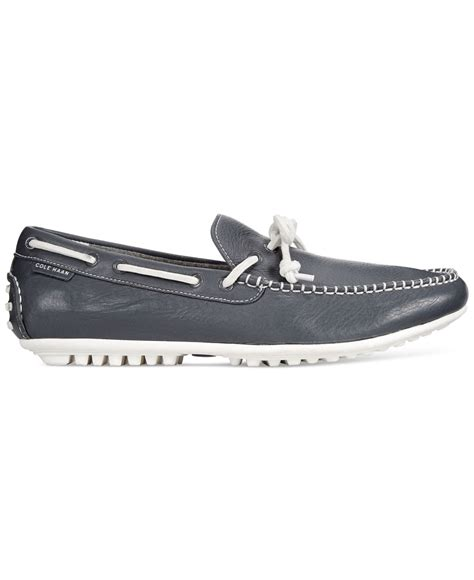 cole haan boat shoes cole haan grant boat shoes in gray for lyst