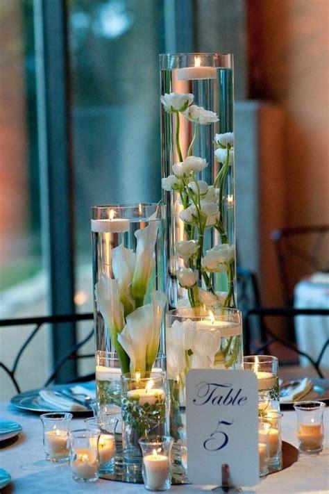 Hohe Kerzen by Hochzeit Tischdeko Ideen Kerzen Hohe Glasvasen Ranunkeln