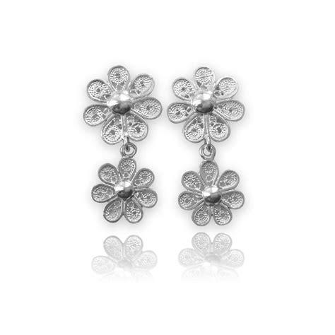 orecchini a fiore orecchini fiore filigrana sarda lavarati a mano gioielli