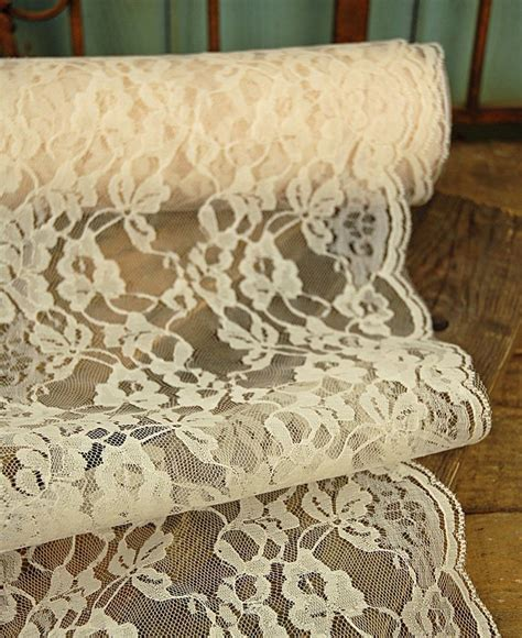 ivory lace runner wide ivory chantilly lace runner 9in wide x 9 yds