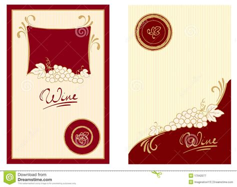 Wine Labels With Swirls Stock Vector Illustration Of Gold 17942077 Wine Label Design Templates Free