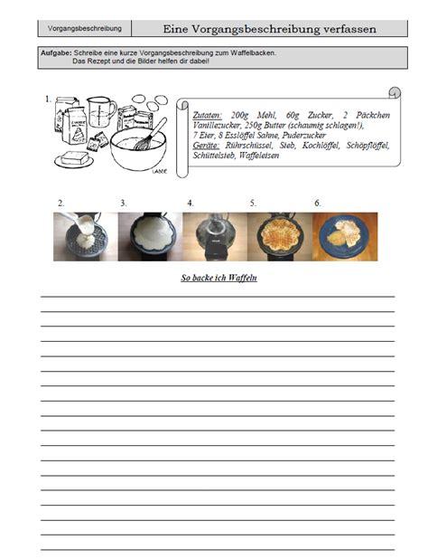Offizieller Brief Deutschunterricht arbeitsblatt zur vorgangsbeschreibung