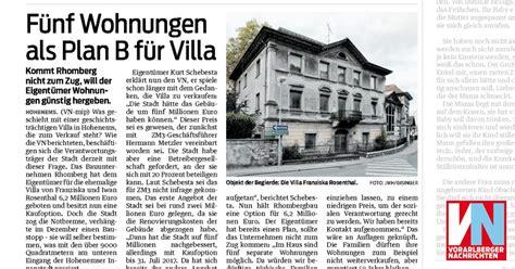 F 252 Nf Wohnungen Als Plan B F 252 R Villa Vorarlberger