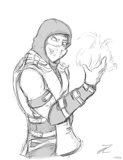 Mortal Kombat X Sketches by Scorpion Mortal Kombat X Drawing