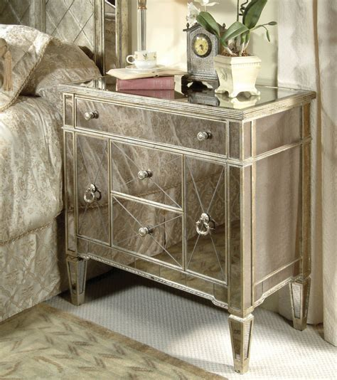 mirrored bedroom furniture for sale bassett mirror 8311 990 borghese mirrored chairside chest