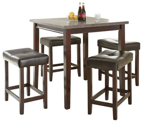 Babcock Furniture Dining Room Sets by Steve Silver Aberdeen 5 Piece Counter Height Table Set W