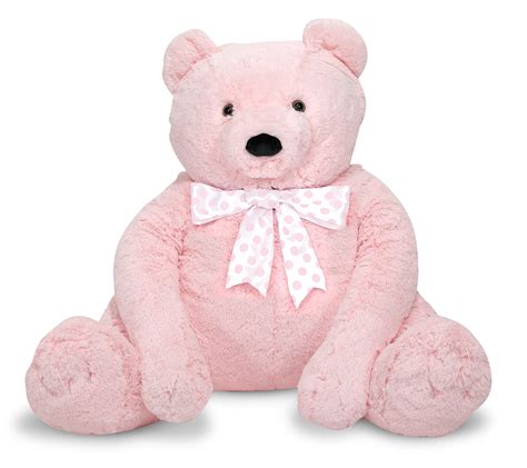 jumbo teddy bears doug jumbo pink teddy plush by oj