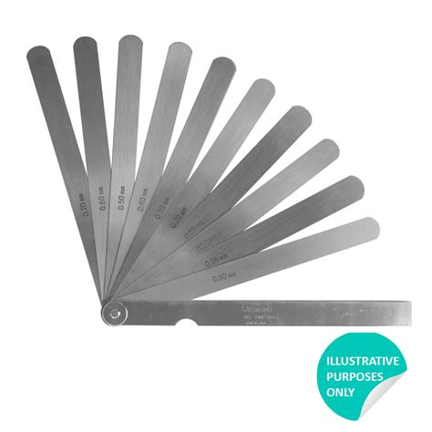 Jual Mitutoyo 184 303s Thickness mitutoyo 184 308s feeler 0 05 0 8mm 10 leaves