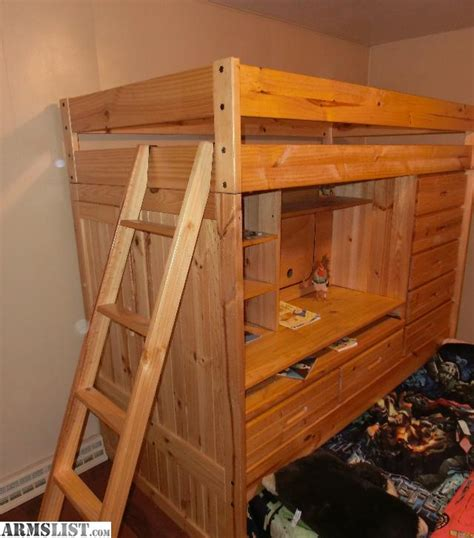 Bunk Beds With Desk For Sale Armslist For Sale Quality Pine Bunk Bed W Desk And Dresser