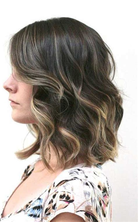 subtle ombre hair with soft waves medium ash brown hair 15 balayage bob hair bob hairstyles 2017 short