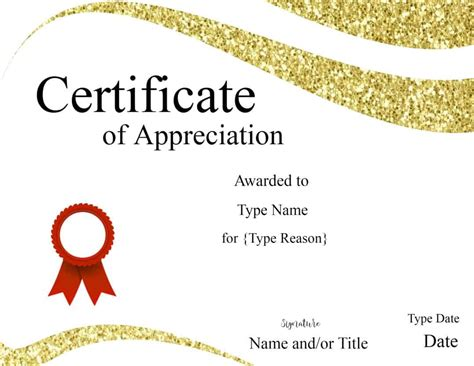 Appreciation Templates by Certificate Templates