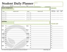 student planner template student planner template templates and sles
