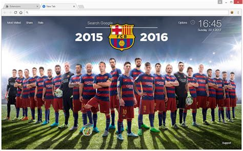 themes google chrome barcelona fc barcelona wallpaper hd soccer new tab chrome web store