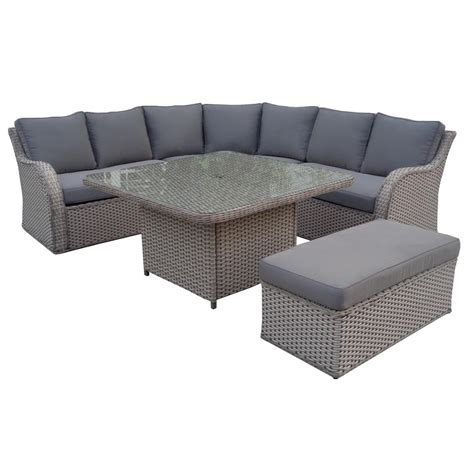 corner outdoor sofa outdoor corner sofa set garden complete set in polyrattan