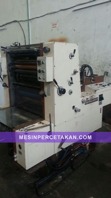 Mesin Zebra 1 3 fuji shinohara 58 offset machine ready stocks mesinpercetakan