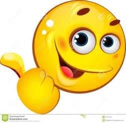 Emoticon pokazuje kciuk up obrazy stock obraz 31247464
