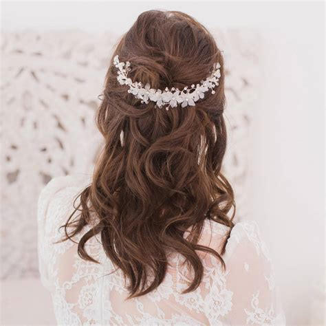 wedding hair comb with chains by britten weddings hair comb wedding by britten weddings notonthehighstreet com
