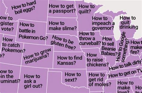 questions each state googles more than any other state map shows the how to question your state googles more