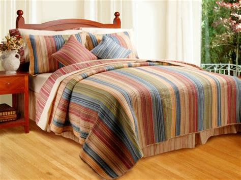 Bed Linen Inspiring Striped Bedspreads And Comforters