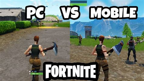 fortnite pc fortnite pc vs mobile gameplay