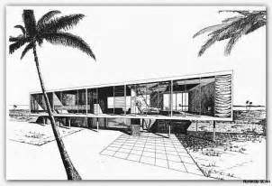Midcentury House Mid Century Modern Architecture Drawing Www Imgarcade