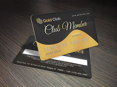 gold membership card template premium print design download