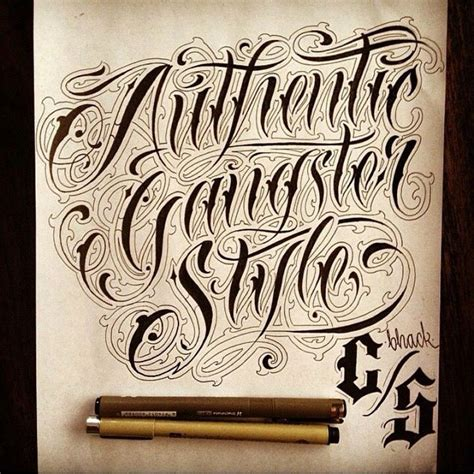 tattoo fonts gangster style 25 best ideas about gangster letters on