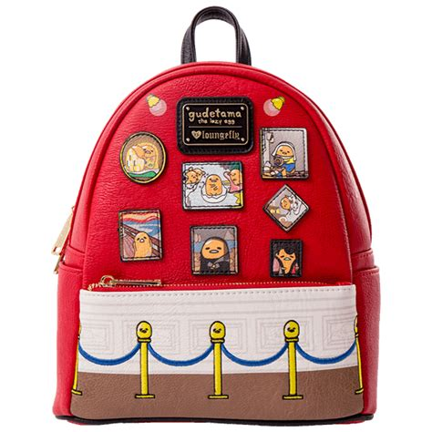 sanrio gudetama museum loungefly mini backpack zing pop culture