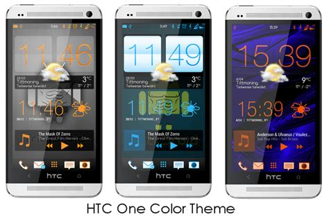themes htc htc one m7 custom color themes orange blue red full themes