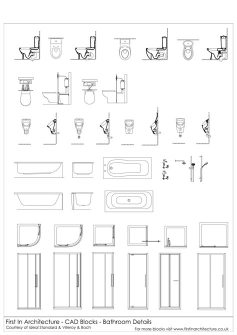 bathroom cad blocks free cad blocks bathroom details first in architecture