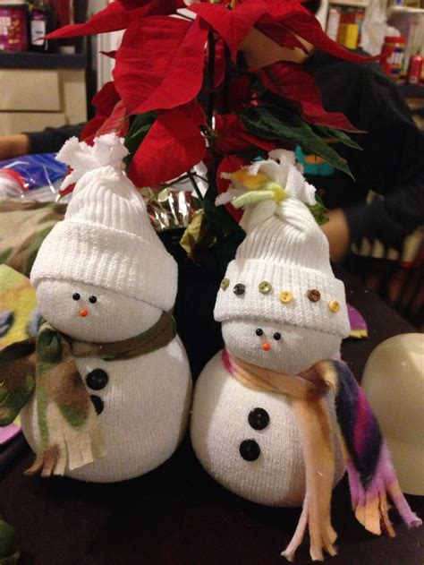 sock snowman craft with rice sock snowmen filled with rice family craft