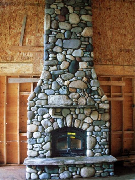 River Rock Fireplace Design by Image Detail For River Rock Fireplace Living Room Dec