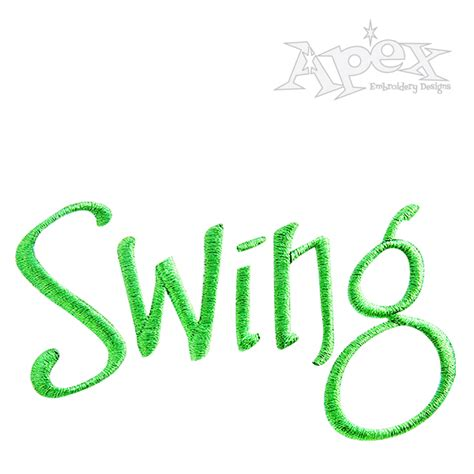 swing set font swing set embroidery fonts