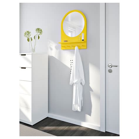 Saltr 214 D Mirror With Shelf And Hooks White 50x68 Cm Ikea | saltr 214 d mirror with shelf and hooks yellow 50x68 cm ikea