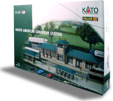 kato official model railroad layout guide book 25 011 n kato faller north american suburban station kit