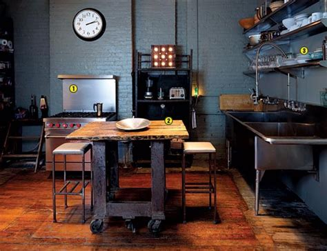 kitchen island table ideas 25 best industrial kitchen ideas to get inspired