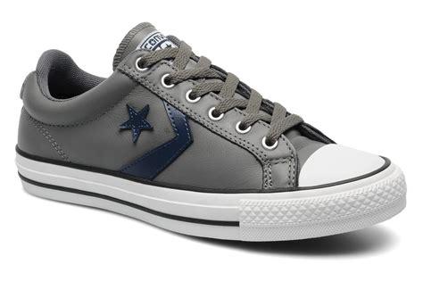 Sepatu Converse Player Ev Ox converse player ev leather ox w trainers in grey at sarenza co uk 142613