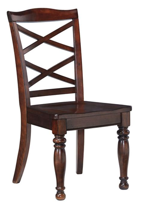 side dining room chair  dark brown mathis