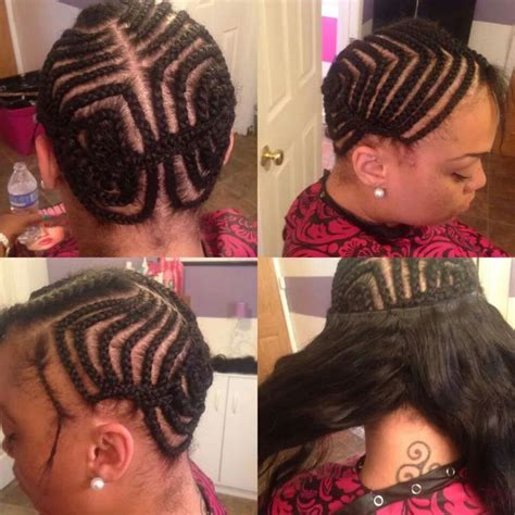 best braiding pattern for sew in when you have no edges 17 best images about extenciones flawless hair sew in