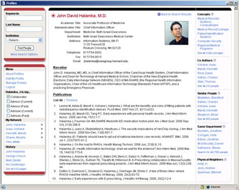 profiles research networking software