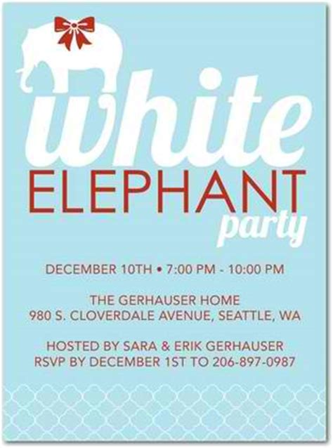 white elephant grabbag party best invitations hanukkah partyideapros