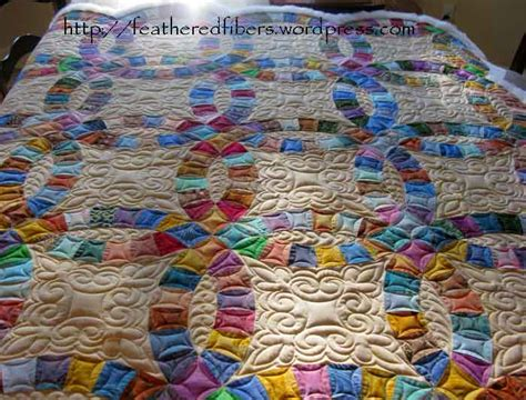 Double Wedding Ring Quilt finished   Carla Barrett
