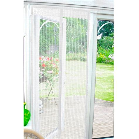 Door Magnetic Screen by White Magnetic Insect Door Screen Mesh Curtain 90cm X 210cm