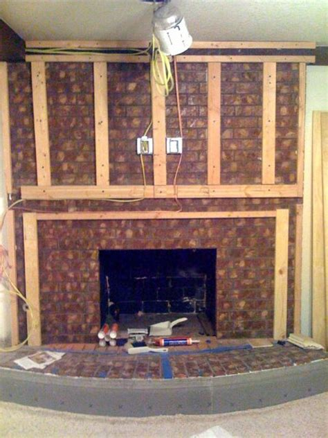 How To Update A Fireplace by Fireplace Upgrade Rambling Road Designs Renovation